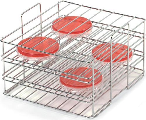 3166183: Petri Dish Rack, Stainless Steel