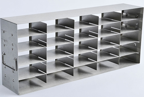 1950518: Freezer Rack - Adjustable Side Access - Holds 20 Boxes (2-inch)