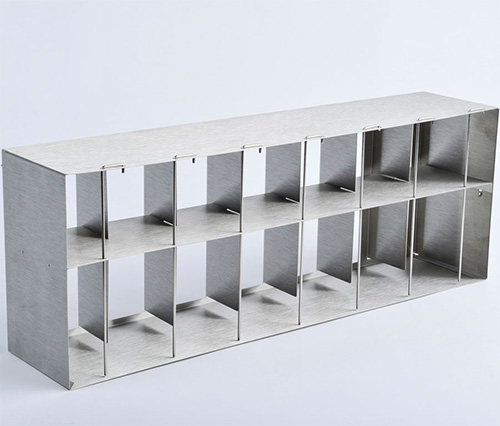 1950592: Freezer Rack - Side Access w/ Locking Rod - Holds 147 Microplates