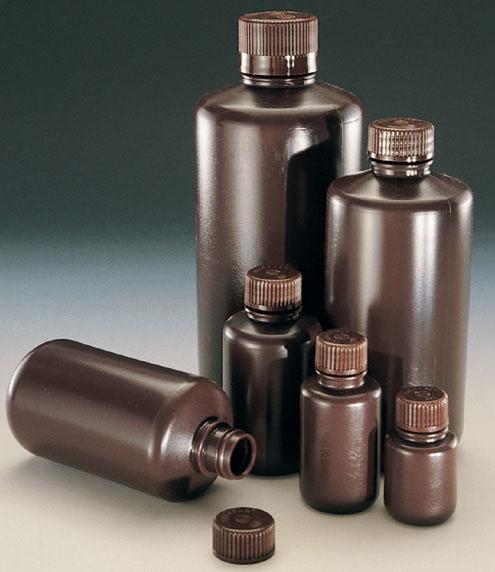 2004-0001: Nalgene Amber Narrow-Mouth Bottle HDPE 30 mL (Case of 72)