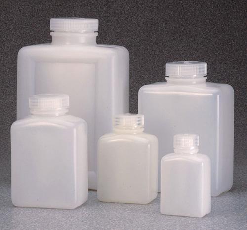2007-0016: Nalgene Rectangular Bottle HDPE 500 mL (Case of 48)