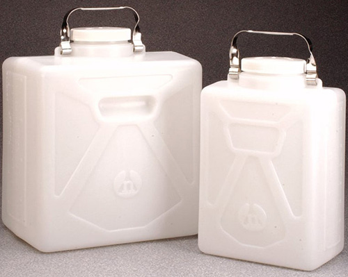 2211-0050: Nalgene Carboy Rectangular HDPE w/SS Handle 20L (Case of 4)
