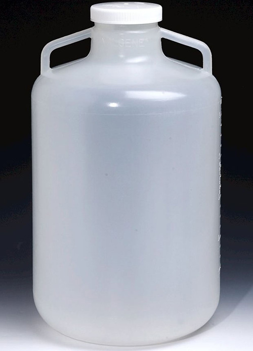 2235-0020: Nalgene Carboy Wide-Mouth PP w/Handles 10L (Case of 6)