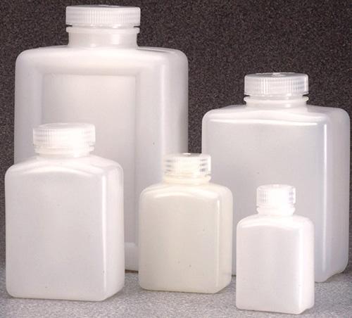 312007-0004: Nalgene Bottle, Rectangular - HDPE 4 oz / 125 mL (28-415) (Case of 500)