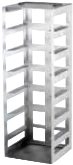 398184: Freezer Rack - Includes Handle and Locking Rod - Holds 7 Boxes (2-inch)