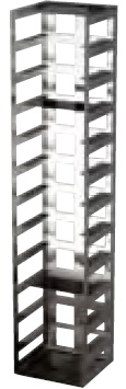 398186: Freezer Rack - Includes Handle and Locking Rod - Holds 12 Boxes (2-inch)
