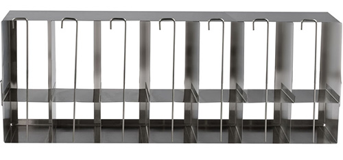 398322: Freezer Rack - Side Access with Locking Rod - Holds 98 Microplates and 35 Deepwell Plates