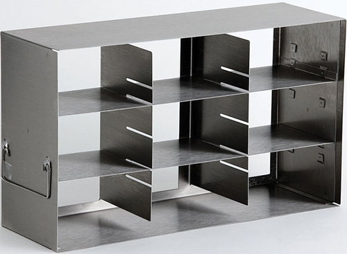 398325: Freezer Rack - Side Access - Holds 9 Boxes (3-inch)