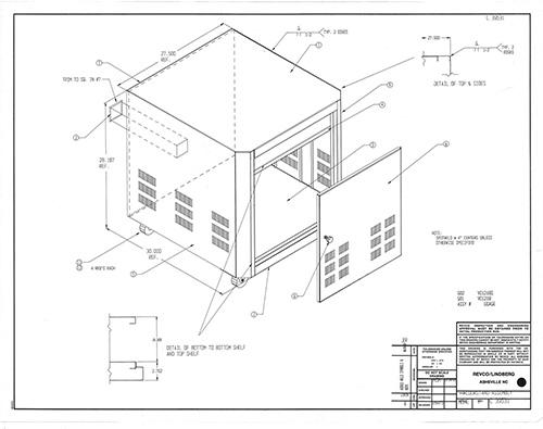 6718: White Floor Stand for Lindberg/Blue M Vacuum Ovens