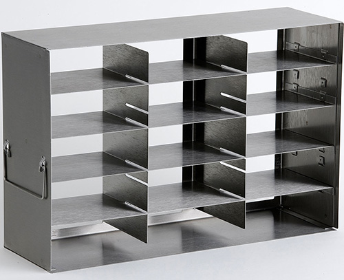 920015: Freezer Rack - Adjustable Side Access - Holds 15 Boxes (2-inch)