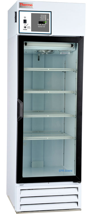 MR25SS-GARE-TS: GP Lab Refrigerator, 23 cu ft, Glass Door + Chart Recorder (Stainless Steel Int)