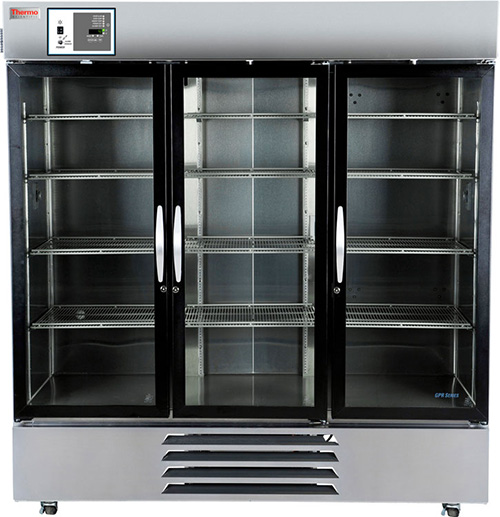 MR72SS-GAEE-TS: GP Lab Refrigerator, 72 cu ft, Glass Doors (Stainless Steel Int)